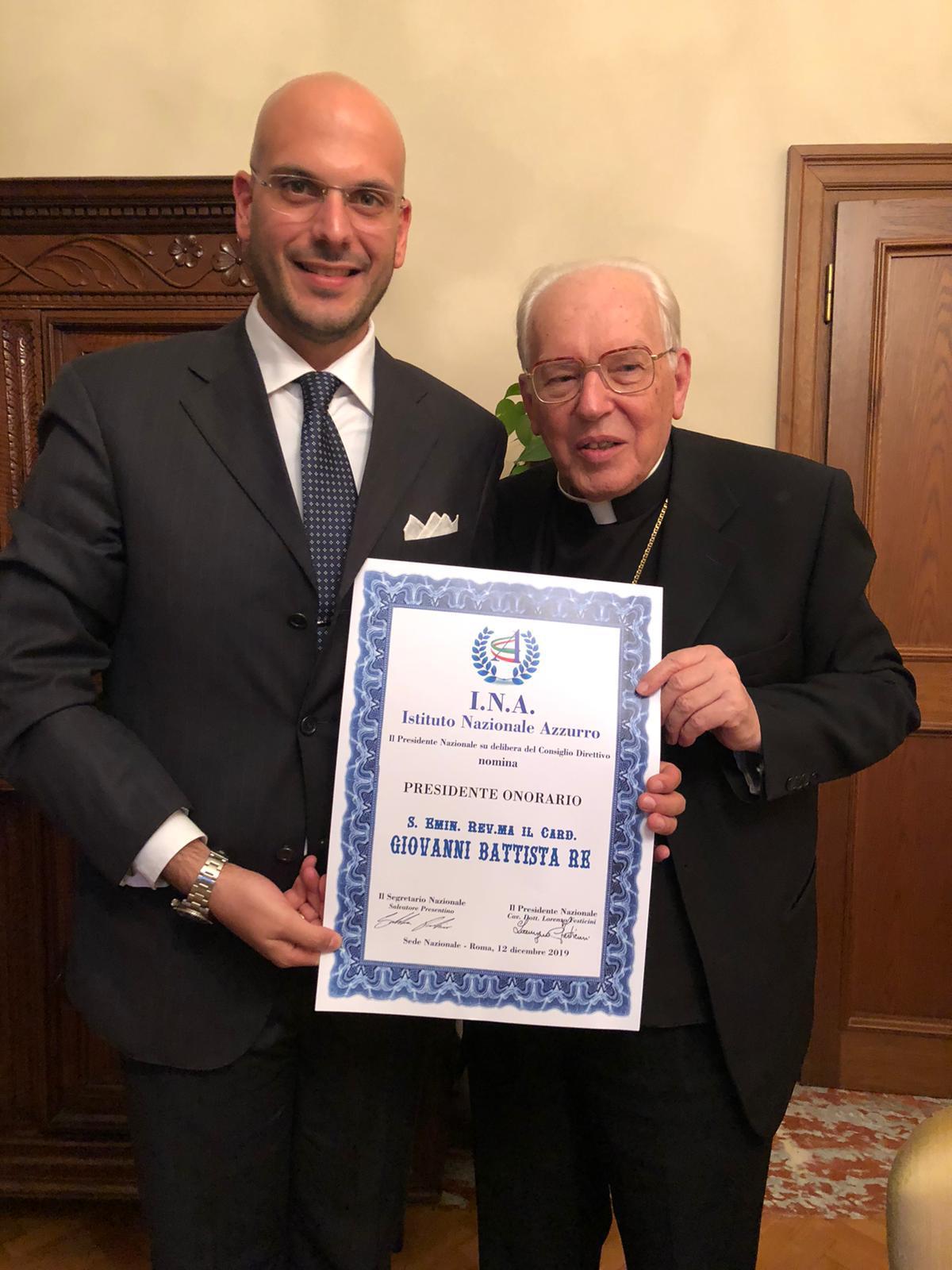 Presidente Onorario e Patrono – Istituto Nazionale Azzurro
